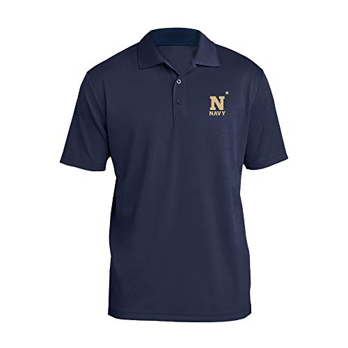 - UGP Campus Apparel AP07 - US Naval Academy Midshipmen Primary Logo LC Polo - 2X-Large - Navy