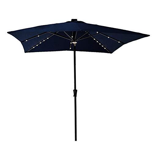 C-Hopetree LED Lights Outdoor Patio Balcony Umbrella 7'6