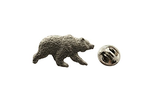 Grizzly Bear Pin ~ Antiqued Pewter ~ Lapel Pin ~ Sarah's Treats & Treasures - Pewter Grizzly Bear