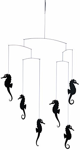 Flensted Mobiles Sea Horse Black Hanging Mobile - 22 Inches Cardboard