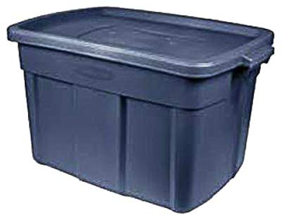 Rubbermaid United Solutions RMRT140008 Roughneck Storage Tote, Indigo Blue, 14-Gallons - Quantity 6