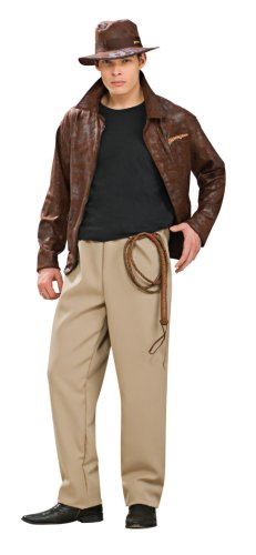 1930s Men's Costumes: Gangster, Clyde Barrow, Mummy, Dracula, Frankenstein Mens Deluxe Indiana Jones Costume $53.99 AT vintagedancer.com
