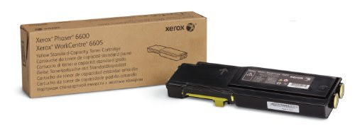 (Genuine Xerox Yellow Toner Cartridge for the Phaser 6600 or WorkCentre 6605, 106R02243)