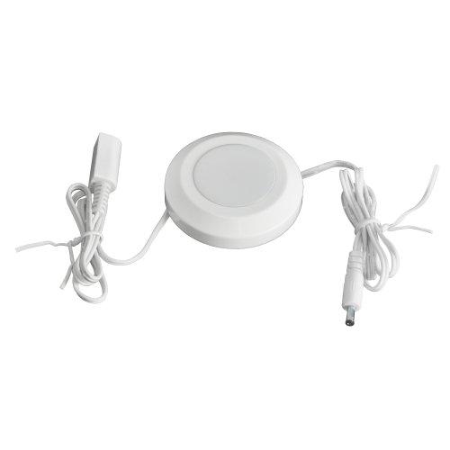 Ecolight LED Single Puck Light - White - Plastic Single Light
