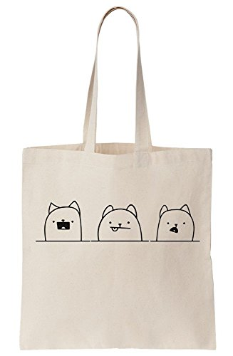 Adorable At Canvas You Looking Bag Three Dogs Tote UZxWw