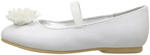 Nina Girls' Jemma-t Ballet Flat, White, 7 M US Toddler - Image 5