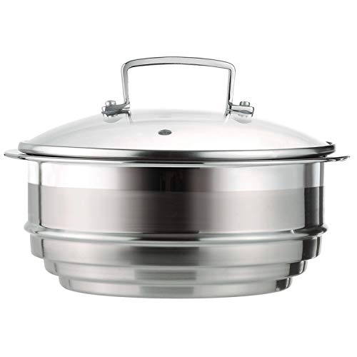 Le Creuset Tri-Ply Stainless Steel 7-Inch Steamer Insert with Glass Lid ()
