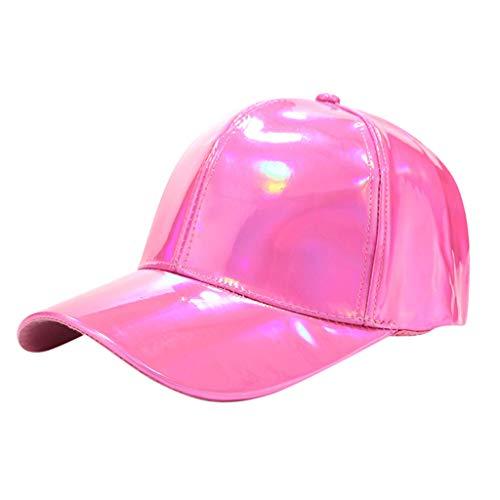 HYIRI Hip-Hopping Fashion Unisex Hip-Hop Baseball Cap Casual Street Dance Hats Adjustable Hot Pink]()