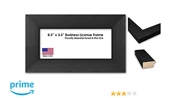 Amazon.com - 8.5 x 3.5 Inch Professional Business License Frame ...