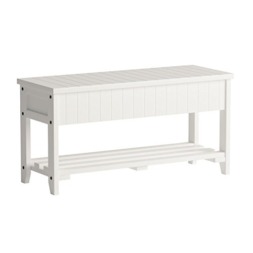 Roundhill Furniture Quality Solid Wood Shoe Bench With