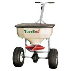 Trynex TurfEx TS65SS 75 Lb. Capacity Heavy Duty Stainless Steel Push Spreader