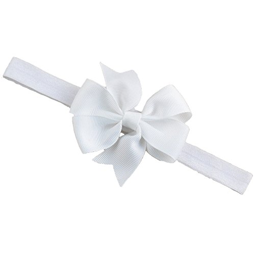 Buy Bellazaara Baby Girl Boutique White Satin Ribbon Bow Headband Online at  Low Prices in India - Amazon.in 805b568609d