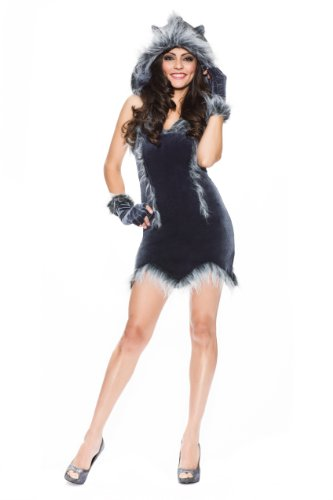 Delicious Howling Hottie Costume, Multi, Large (Sexy Werewolf Costume)