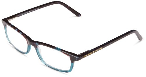 Kate Spade Women's Jodie Rectangular, Sky Blue Tortoise, 50 mm 2