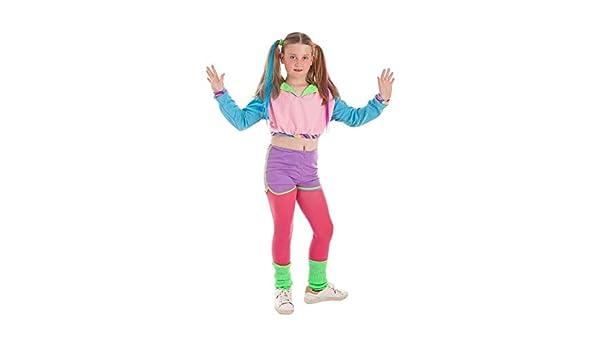 Disfraz de Deportista Años 80 para niña: Amazon.es: Juguetes y juegos