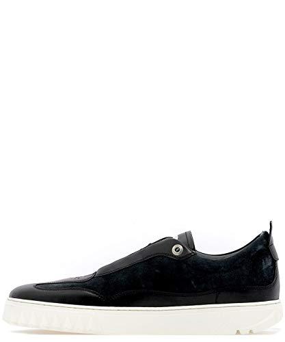 Salvatore Pelle 709255 Slip Nero Ferragamo On Uomo Sneakers p87grpZ