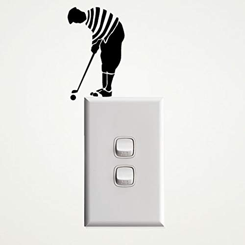 Vinyl Design Golfer Wall Decal for Powerpoints and Light switches - Removable - No Damage to The Wall