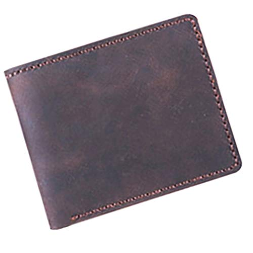 MagiDeal Leather Purse Wallet Complete Kit with Pre-Cut Pre-Punched Leather Needle Thread Scissor - ()