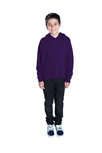 LAT Apparel Youth Pullover Fleece Hoodie - Small - Purple
