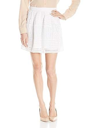 Olive & Oak Women's Eyelet Skirt, White, X-Small