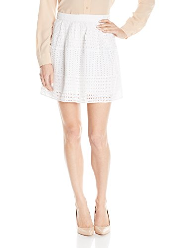 Olive & Oak Women's Eyelet Skirt, White, Small (Eyelet Mini Skirt)