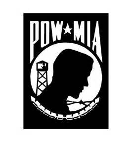 "Chase Grace Studio POW MIA Military Soldier U.S. Veteran Vinyl Decal Sticker|WHITE|Cars Trucks Vans SUV Laptops Wall Art|5.5"" X 4""