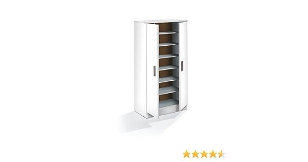 HABITMOBEL Zapatero Armario, Color Blanco, Dimensiones 108 x 55 x 36cm: Amazon.es: Hogar