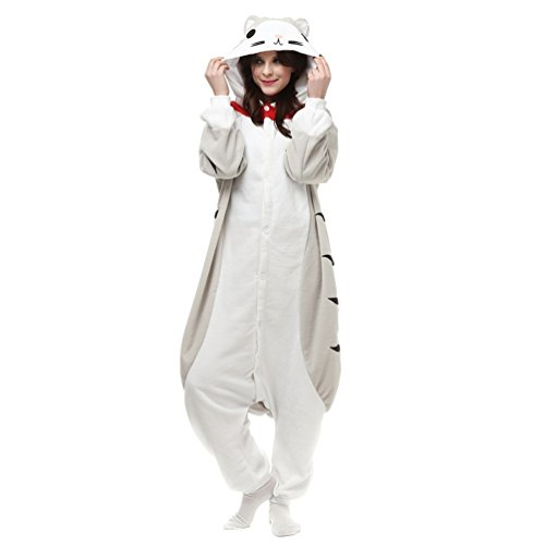 [NINI.LADY Unisex Sleepsuit Pajamas Cosplay Costume Adult Sleepwear Cheese Cat S] (Child Cheese Costumes)