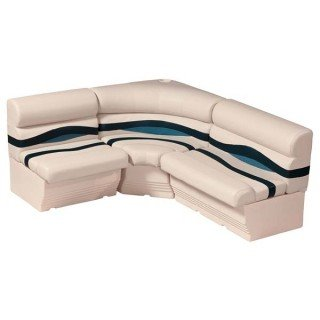 Pontoon Seats Furniture Rear (AMRW-WS14007-986 * Wise Boat Seats Premier 8' Boat Rear Entry Package - Platinum-Navy-Cobalt)