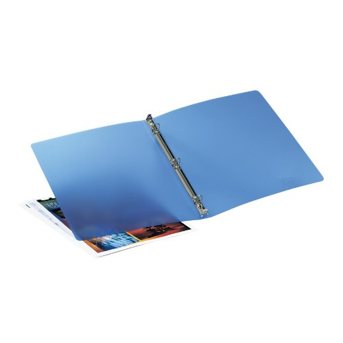 exible Binder with 0.5-Inch Round Ring, Blue (15721) ()
