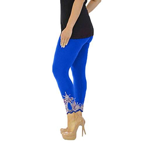 Women's Leggings Fudule Pants Women Yoga Pants Workout Running Leggings Tummy Control Pants High Waist Solid Gym Pants Blue