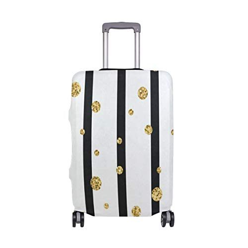 Polka Dot On Lines Luggage Cover Travel Case Bag Protector for Kid Girls ()