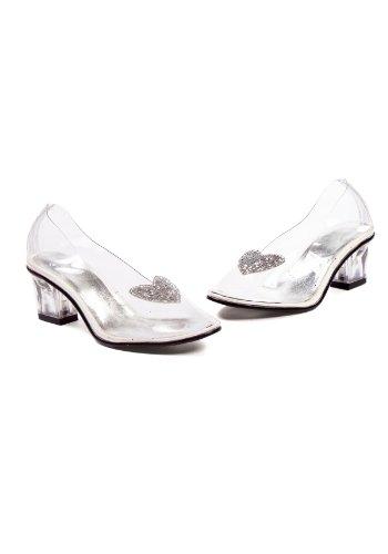 (Ellie Shoes Kids Cinderella Costume Glass Slipper Shoe US sz)