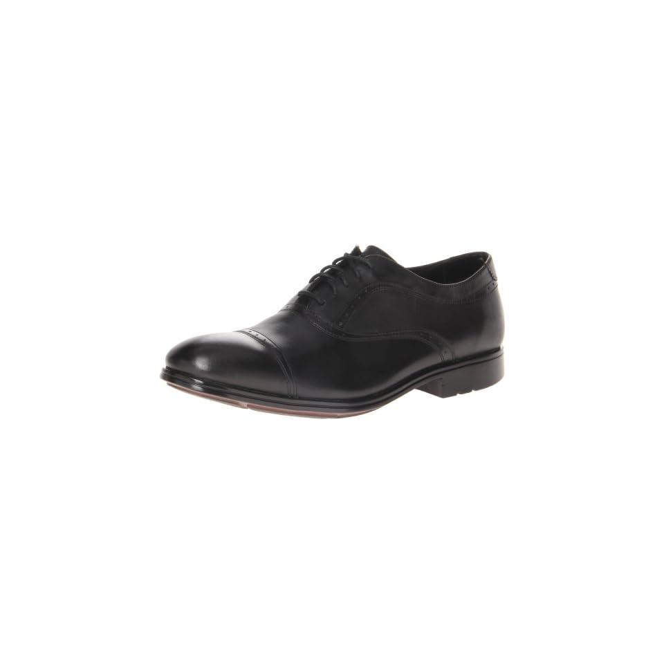 Rockport Mens Fairwood Cap Toe,Black/Black Leather,US 7 M