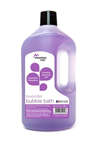 Mountain Falls Bubble Bath with Essential Oils, Lavender, 64 Fluid Ounce (Bubble Relaxing Bath)