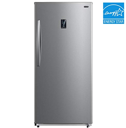 Whynter UDF-139SS 13.8 cu.ft. Energy Star Digital Upright Convertible Deep Stainless Steel Freezer/Refrigerator, One Size