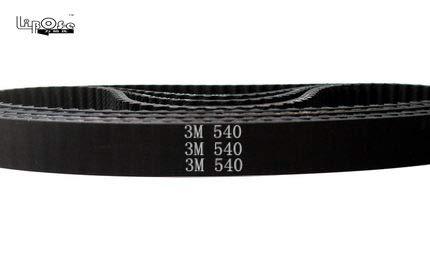 Fevas Free 540 HTD3M Timing Belt Teeth 180 Width 6 9 10 12 15mm Length 540mm Rubber Closed-Loop 540-3M HTD 3M CNC - (Width: 5mm, Number of Pcs: 10pcs)
