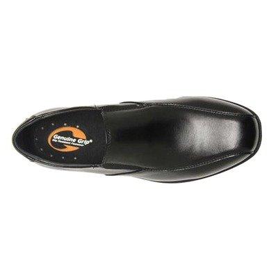 Genuine Grip Footwear Men's Slip-Resistant Slip-on Dress Loafers,Black Leather,10.5 M (Black Leather Formal Slip)