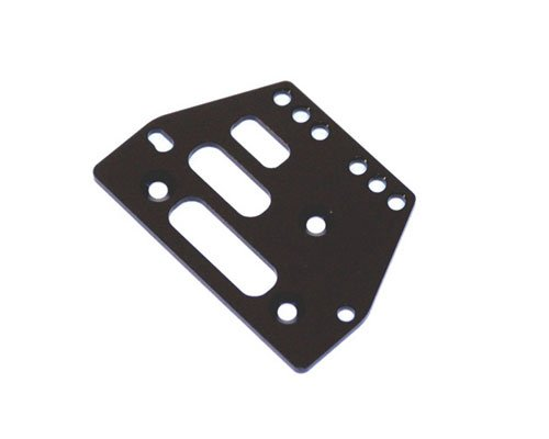 ST Racing Concepts STA30485BK Aluminum Front or Rear Adjustable 4 Link Servo Plate for The Axial AX10, Black