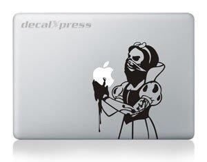 (Zombie Snow White - Decal Sticker for MacBook, Air, Pro All)
