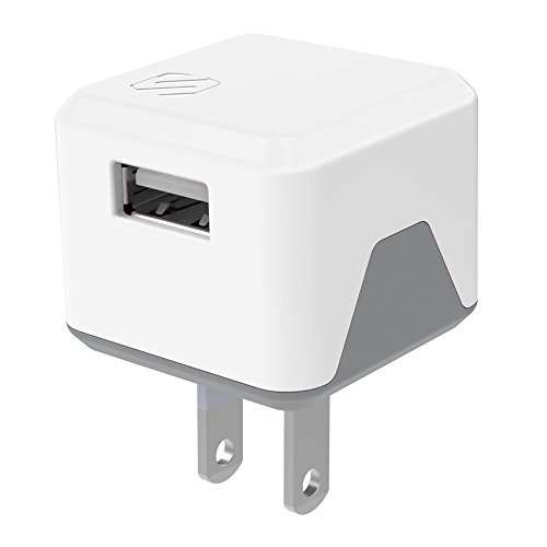 SCOSCHE USBH121WT SuperCube Flip 12W Single USB Port Wall Charger for ALL USB Devices - White ()