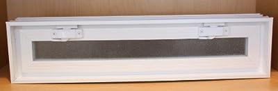 Quality Glass Block 24 x 6 x 3 White Glass Block Vents