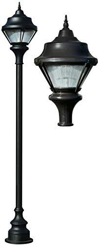 - DABMAR LIGHTING GM9000-B-MT Cast Aluminum Post Fixture with Decorative Base Fixture 70 Watt High Pressure Sodium Multi-Tap, Black