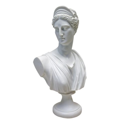 Design Toscano Diana of Versailles Bonded Marble Resin Sculptural Bust, White (Resin Bust)