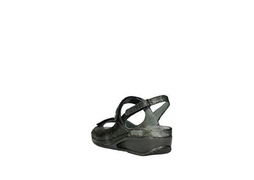 Wolky Komfortable Læder Sandaler Sommer Sko Sandaler Sko Indlægssåler 0425 Sort Kaviar IqdpqyXAOy