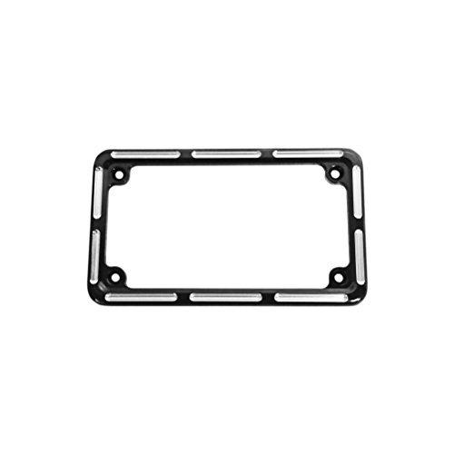 Arlen Ness 12-134 Black License Plate Frame (Lighted Billet License Plate Frame)
