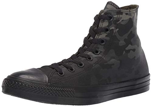 (Converse Men's Unisex Chuck Taylor All Star Camo High Top Sneaker, Field Surplus Black, 10 M US)