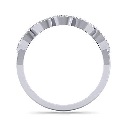 0.25 Carat (ctw) 14K Gold Round Diamond Ladies Bridal Stackable Anniversary Wedding Swirl Ring 1/4 CT