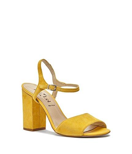 Poi Lei Dames Schoenen Sandaaltjes Presentatie Echt Leer Geel-made In Italië-