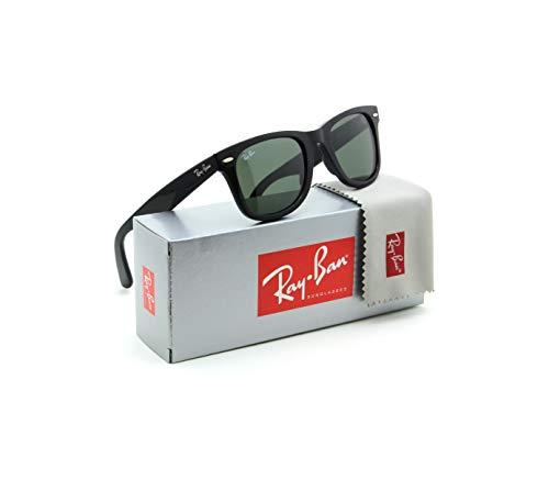 Ray-Ban RB2140 901 Wayfarer Sunglasses Black / Crystal Green Lens ()